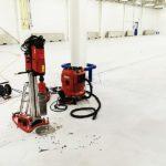 Odber jadrového vývrtu z podlahy